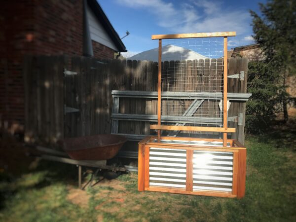 cedar planter and trellis